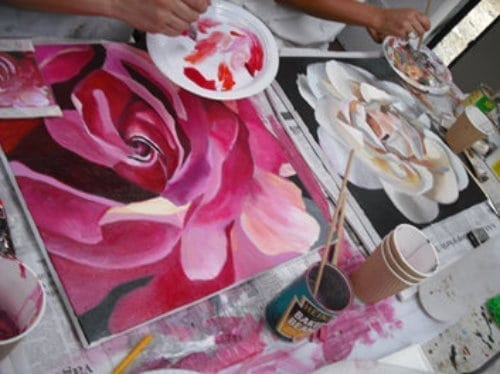 About Arts Creative Hub Blooms Painting Method