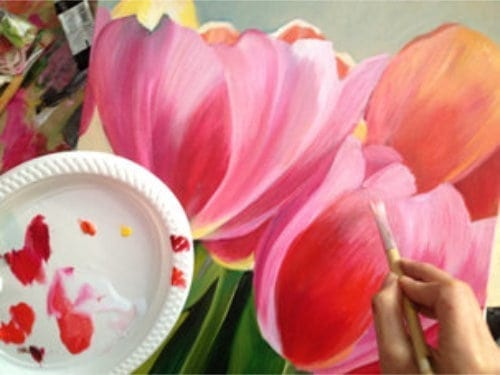 About Arts Creative Hub How to Paint Blooms