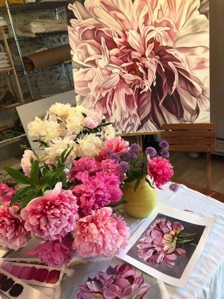 French Art School May Tour 2018 peonies and art of peonies shot