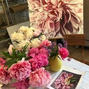 Blooms Painting Workshop - France with Jacqueline Coates