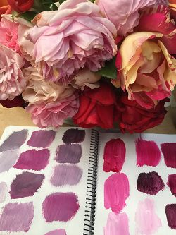 HTPB Color Mixing Image With Roses