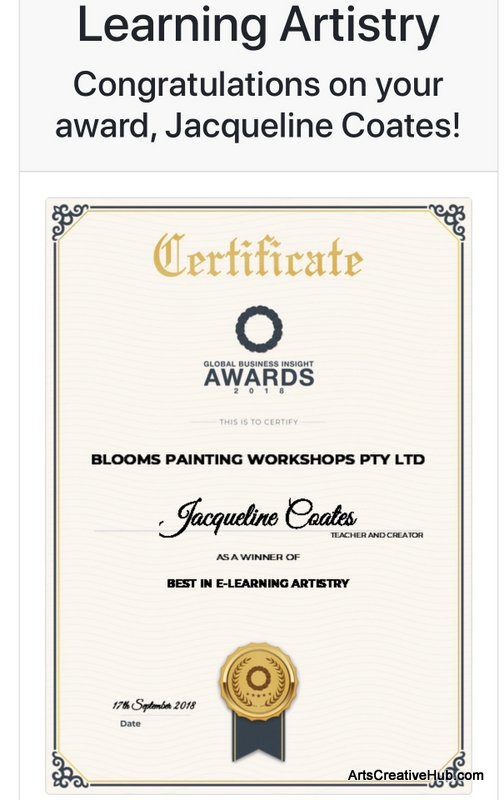Blooms Painting Workshop Melbourne award 2018 e learning artistry global business insights