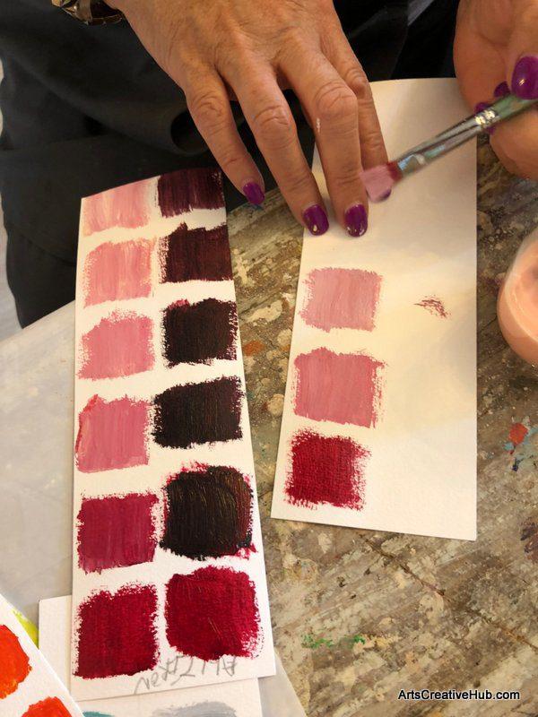 Blooms Painting Workshop Melbourne FAS Monet colour palette