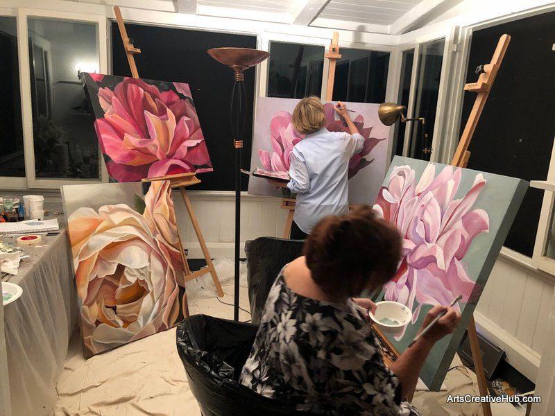 Blooms Painting Workshop Melbourne la blooms room of paintings Sept 2018