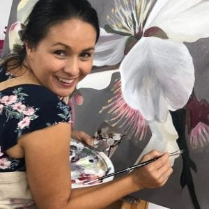 Blooms Painting Workshop Melbourne Painting Confidence Student