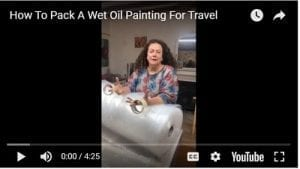 How To Pack A Wet Oil Painting For Travel