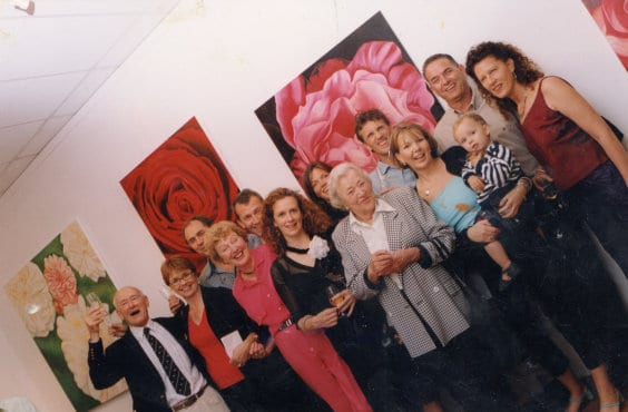 Jacqueline Coates Blooms Paintings Exhibition DEC 2000 12 Artist Studios Rozelle