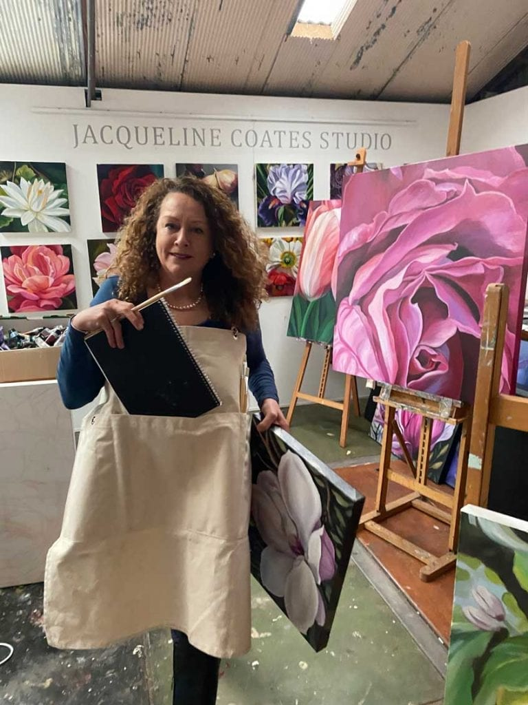 Limited Edition Blooms Art Apron 1