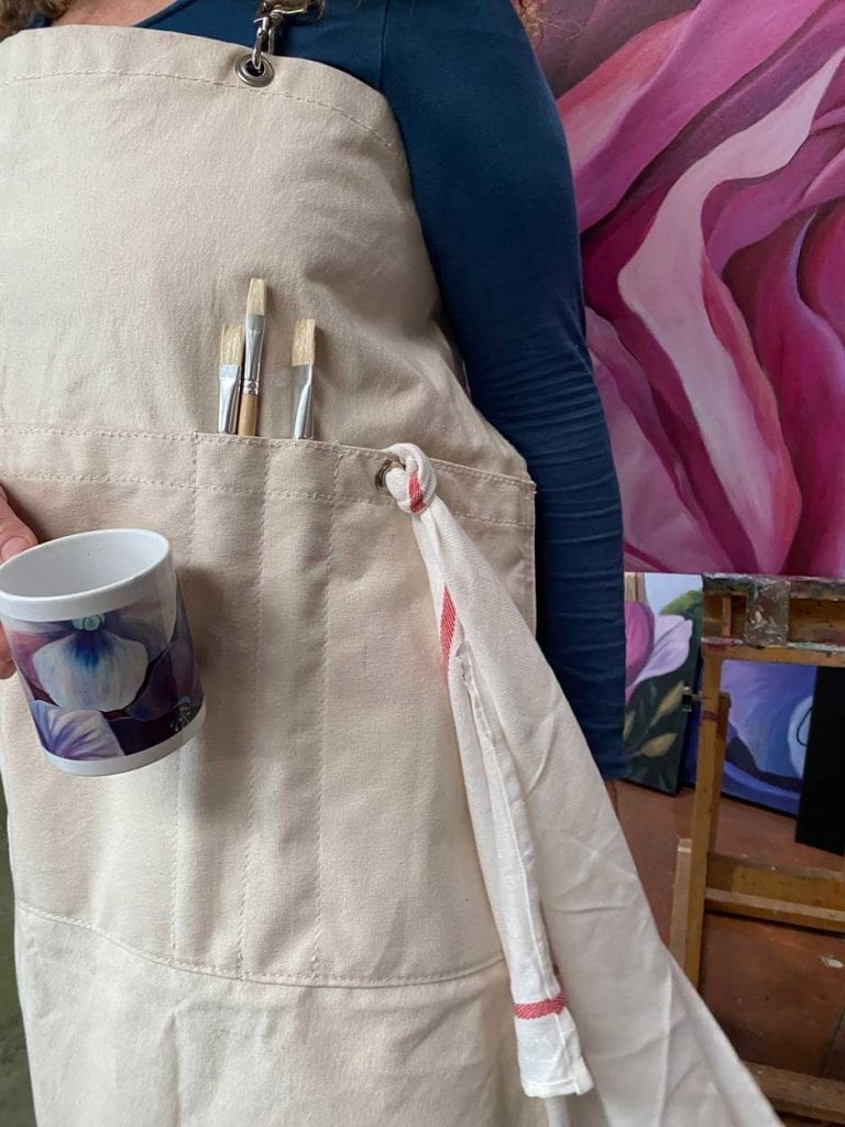 Limited Edition Blooms Art Apron 4